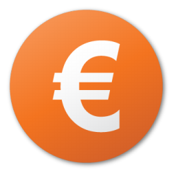 currency_euro red