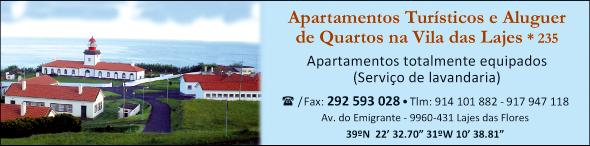 Apartamentos Turísticos e Aluguer de Quartos na Vila das Lajes